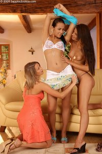 Three stunning lesbians