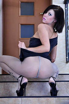 Lily C Loving Her Sheer  Pantyhose