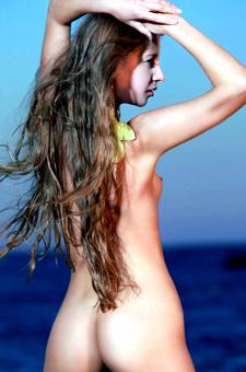 Naked Lovely Sofiya Posing By The Sea