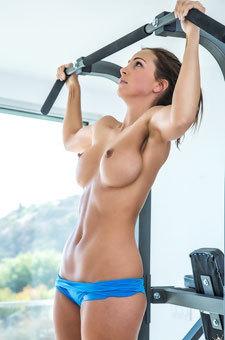 Abigail Mac: Topless Workout