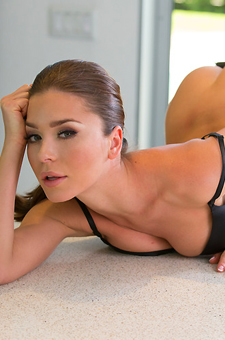 Lily Chey Striptease In The Kitchen