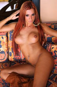 Ashley Bulgari In Couch