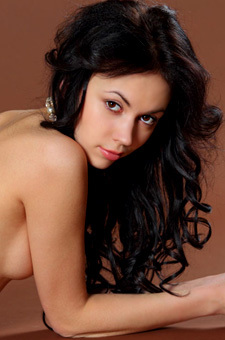Black Haired Young Joanna Is Totally Nude